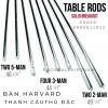Thanh sắt cầu thủ bàn bi lắc Harvard - Rod Solid sắt đặc