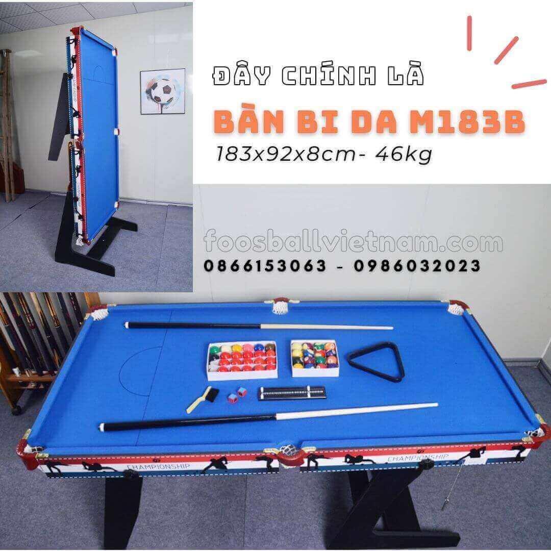 Bàn bi-a bida billiard mini M183A & M183B Kích thước 183x92x78cm - 46kg